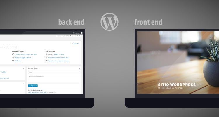 Qué son el back end y front end de Wordpress