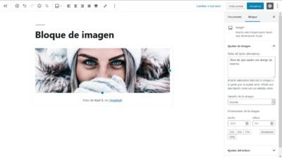 Bloque de imagen en WordPress 5