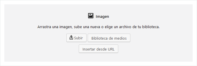 Subir imagen en WordPress 5