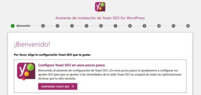 Asistente de configuración del Yoast SEO para WordPress