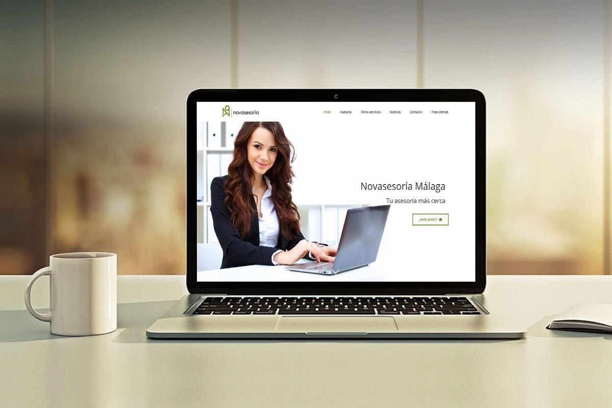 Diseño web Novasesoría, asesoría en Málaga