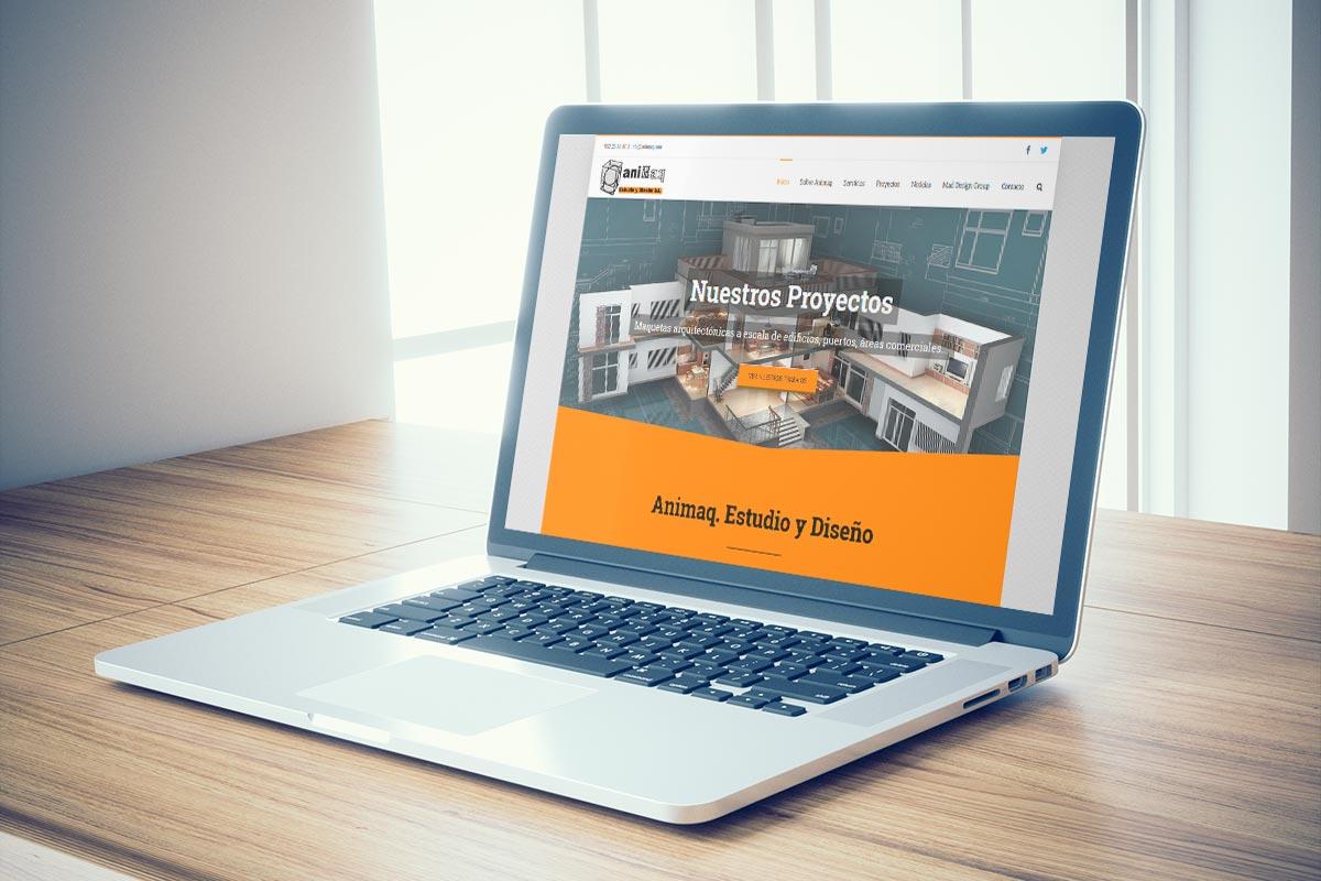 Página web de Animaq. Maquetas arquitectónicas en Málaga