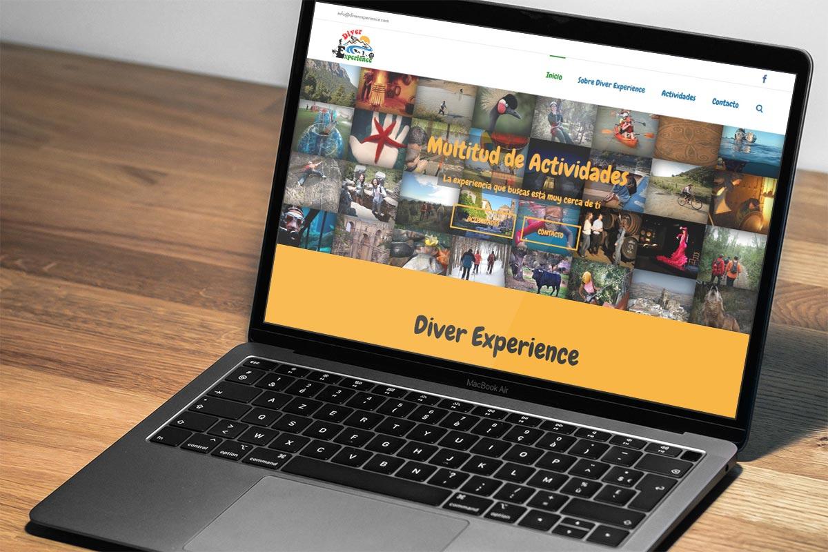 Sitio web de DiverExperience