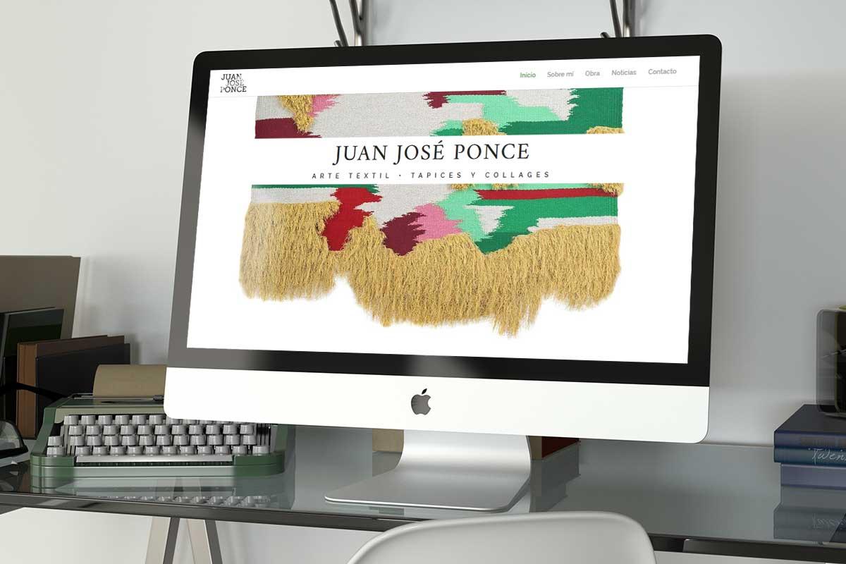 Juan José Ponce. Sitio web del artista textil