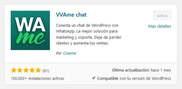 WAme Chat. Plugin WhatsApp en WordPress, sencillo y gratuito