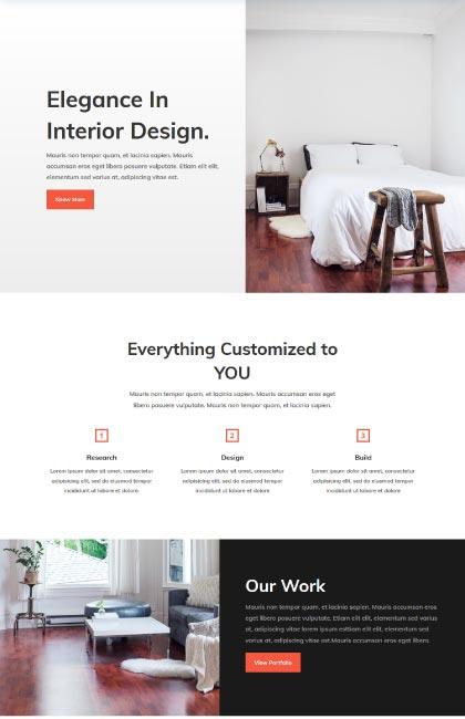 Ejemplo de diseño web para arquitectura de interiores