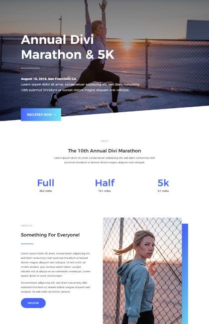 Ejemplo de diseño web para una carrera popular