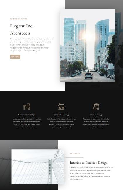 Ejemplo de diseño web para estudio de arquitectura