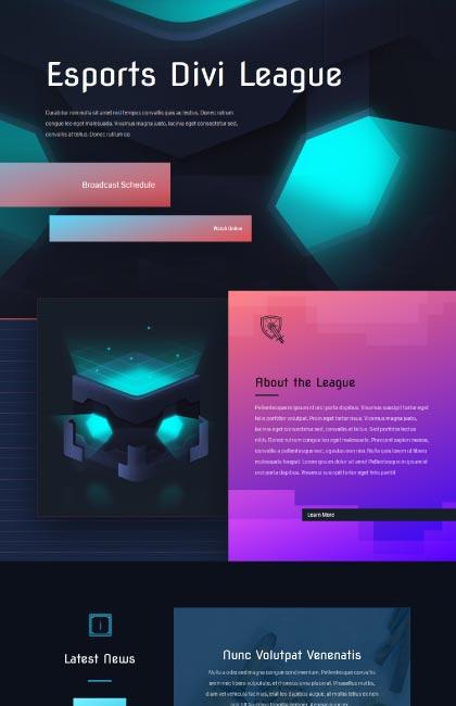 Ejemplo de diseño web para liga de videojuego deportivo