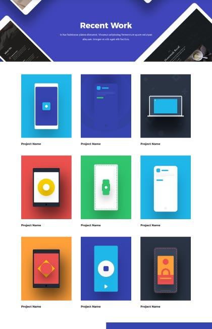 Ejemplo de diseño web del portfolio de una agencia
