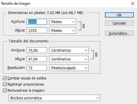 Cambiar tamaño de imagen para imagen de fondo de web