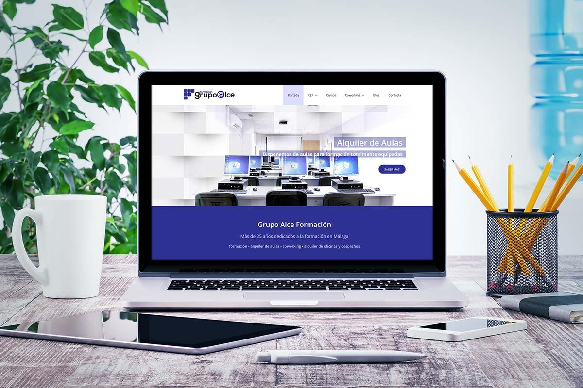 Web Wordpress de Grupo Alce Formación
