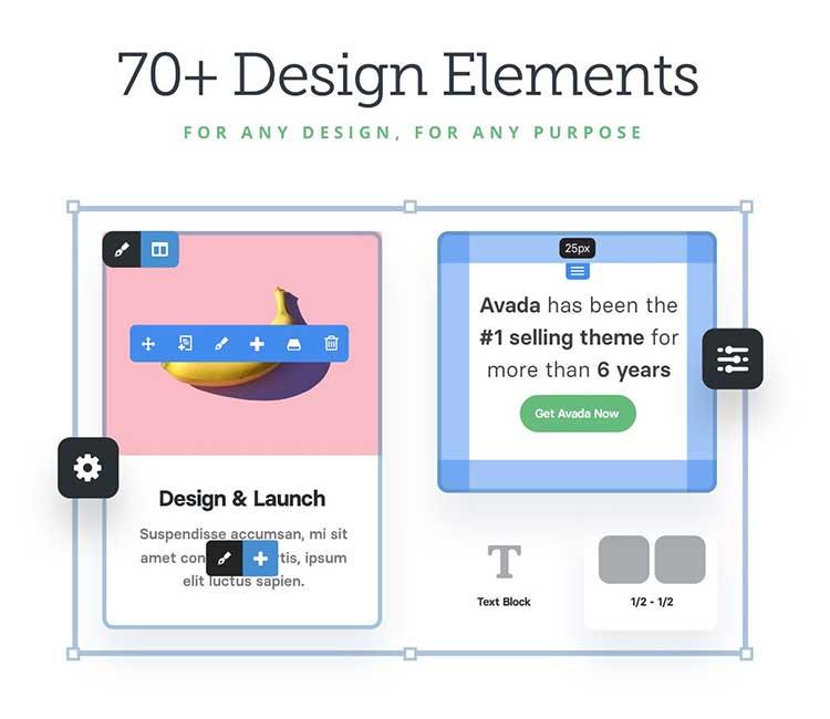 Elementos de diseño en Avada Live