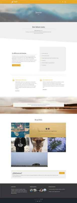 Ejemplo de contenido de página web construida con Fusion Builder