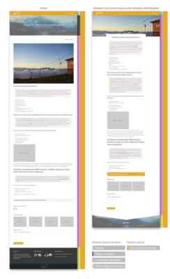 Ejemplo de las entradas de blog antes y después de crear un nuevo layout