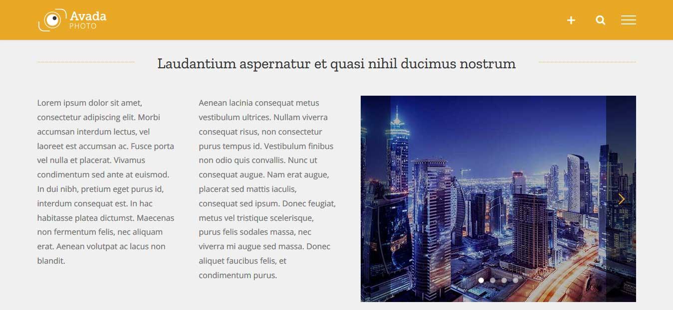 Ejemplo de Fusion Slider en el contenido de una página