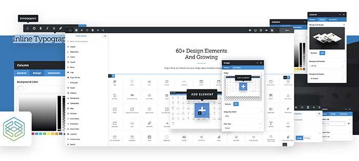 Montaje con el constructor visual en el frontend de Avada