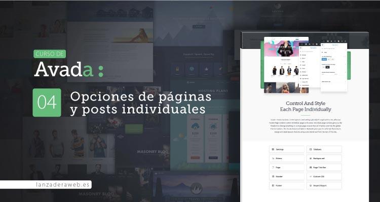 Opciones de página de Avada