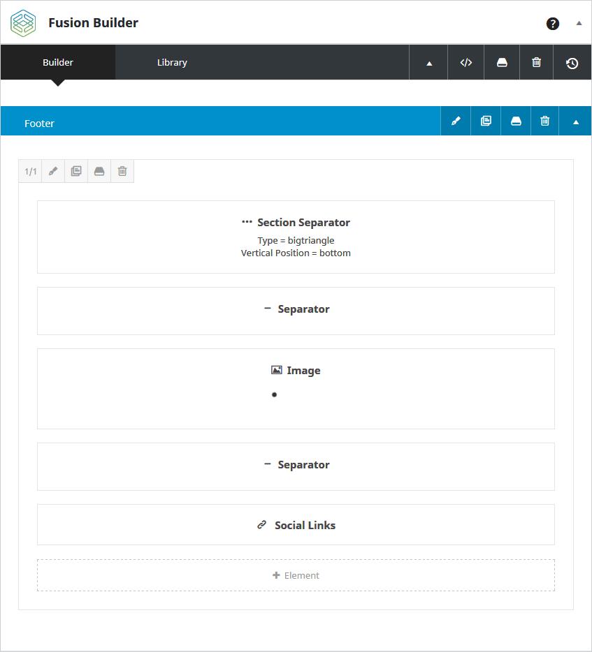 Sección de layout de pie de página para las entradas