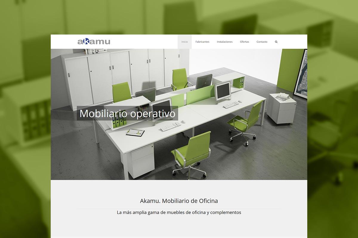 Web de Akamu. Mobiliario de oficina