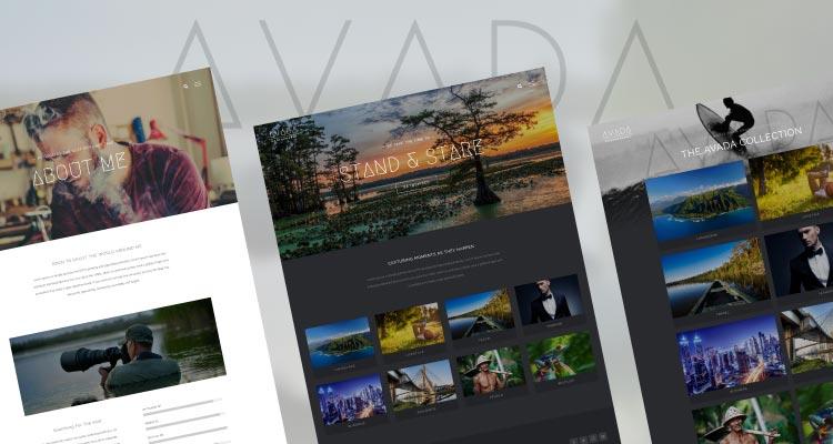 Demo Avada Photography. Web con portfolio para fotografía