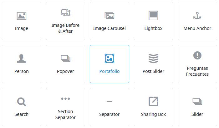 Insertar elemento de portfolio en nuestra página