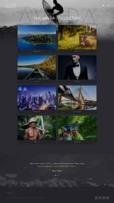 Página de portfolio de la demo Photography