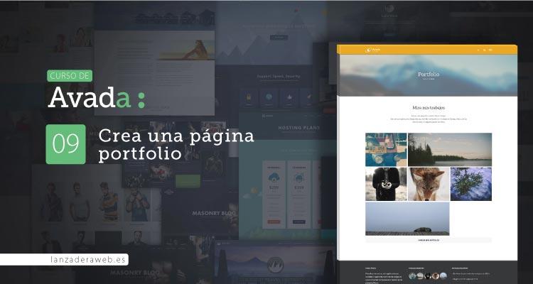 Página de portfolio con Avada