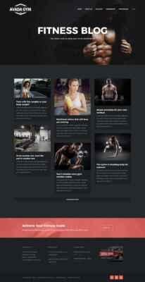 Blog del gimnasio de ejemplo hecho con Avada