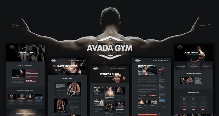 Gym Avada Demo. Sitio web de gimnasio de ejemplo