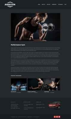 Instalación con el portfolio. Gym Avada
