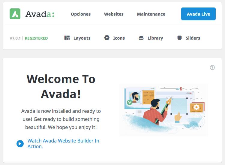 Nuevo panel de control de Avada 7